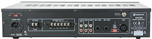Adastra RM240SB 240W Mixer Amplifier Bluetooth USB SD Media Player Mic Input Commerical Use Schools, Events, Conferences
