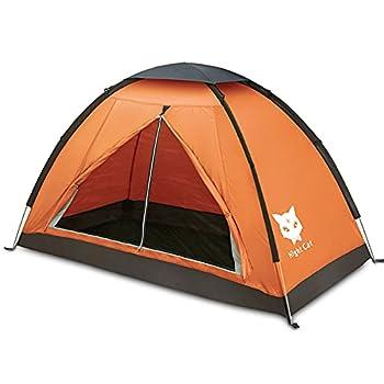 Night Cat Tente de Camping pour 1 Personne Homme Imperméable Tentes de Randonnée Installation Facile Poids Léger pour la Randonnée Arrière-Cour
