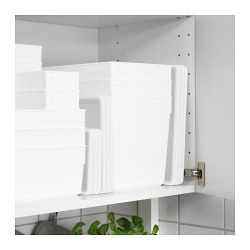 Ikea Tillsluta - Tarro de cocina con tapa, color blanco: Amazon.es: Hogar