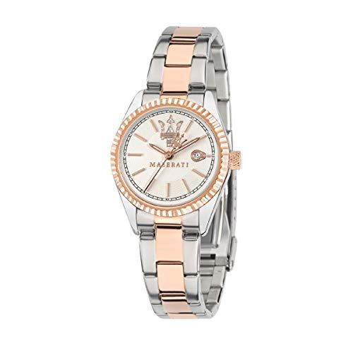 Reloj para Mujer, Colección Competizione, Movimiento de Cuarzo, Solo Tiempo con Fecha, en Acero y PVD Oro Rosa - R8853100504