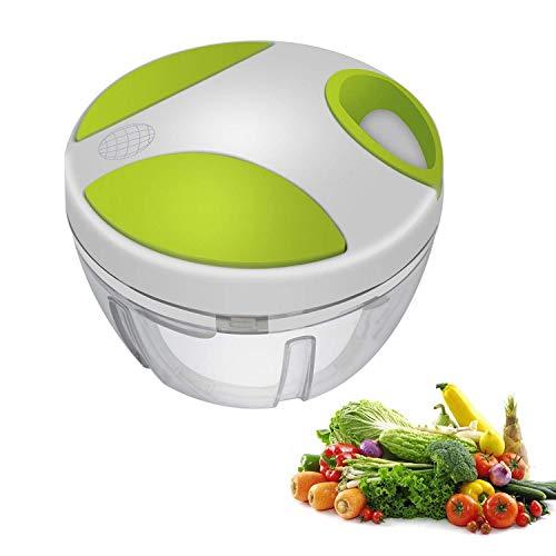 Jianfa Manueller Zerkleinerer für Lebensmittel, Obst, Gemüse, Nüsse, Kräuter, Zwiebeln, Knoblauch, für Salsa, Salat, Pesto, Krautsalat, Püree.