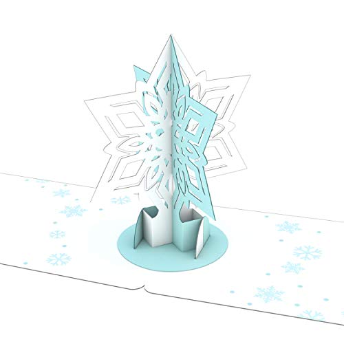 Lovepop Snowflake Gift Tags - 4 Pack, Holiday Gift Tags, Pop Up Cards, Gift Tags, 3D Cards, Christmas Gift Tags