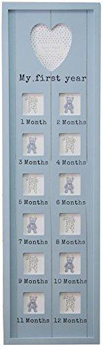 Cadre photo pour bébé «My first year», 76cmx22cm, pour conserver les photos de ses 12premiers mois