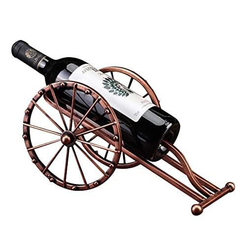 DAKEUR Estante de Vino Soporte de exhibición de Estante de Vino de Metal de Hierro Europeo, enchapado, artesanía Antigua, decoración de la Sala de Estar del hogar, pequeños Adornos artesanales, 36x