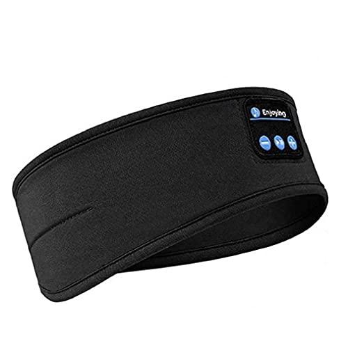 RRunzfon Diadema inalámbrica Bluetooth Deportes sueño Auriculares con Banda para Hacer Footing Yoga Caminar Dormir Negro, Venda Música