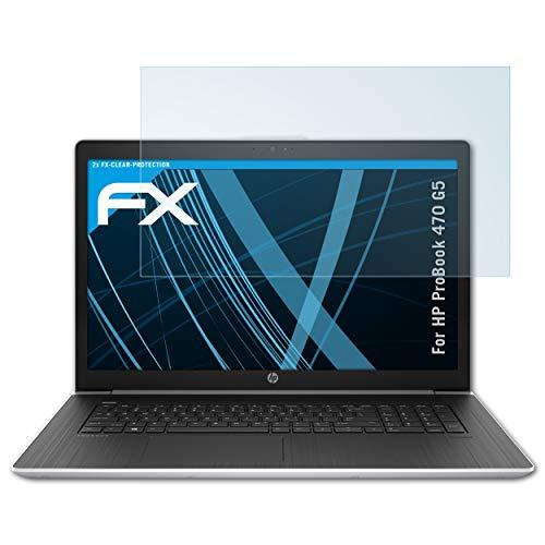 atFolix Schutzfolie kompatibel mit HP ProBook 470 G5 Folie, ultraklare FX Bildschirmschutzfolie (2X)