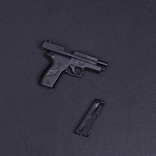 Delili 1/6 Action Figure P226 Gun Model Legging Holster with Quick Pull Sleeve Spy Agent Weapon Suitable for PHICEN, Tbleague, HT Toys