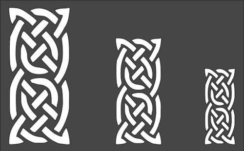 Stencil Celtic Patterns Design, Plastic Reusable