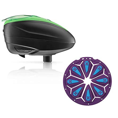 Dye LT-R Electronic Paintball Loader - Lime with HK Army Epic Speed Feed (Lime with Arctic Epic Speed Feed)