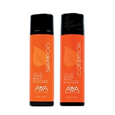 Ava Haircare – Volume Shampoo And Conditioner – Vegan, Sulphate Free, Paraben Free, Cruelty Free (Set of 2, 8.4oz Each)