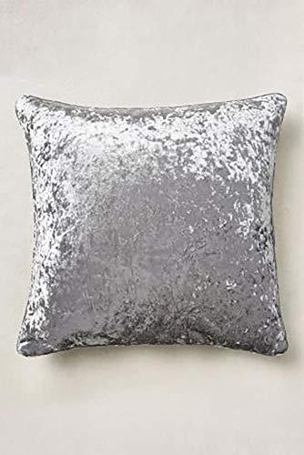Value Comfort Home Set of 2 - Large Super Soft CRUSHED VELVET Filled Cushions - Colour Options Silver (2)