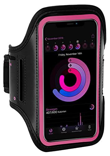ONEFLOW Brazalete deportivo para teléfono móvil compatible con Samsung Galaxy J3 (2017), brazalete de fitness, brazalete deportivo para correr, para exterior, color rosa