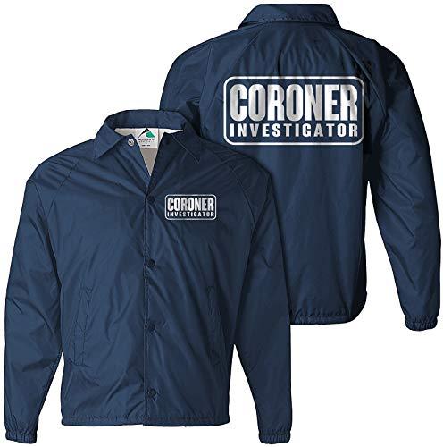 Coroner Jacket, Government Agent Jacket, Secret Service Jacket, FBI Jacket, CIA Navy