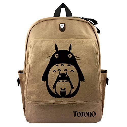 Cosstars My Neighbor Totoro Anime Canvas Backpack Rucksack Reisetasche Schultasche des Schülers Jungen Mädchen /1