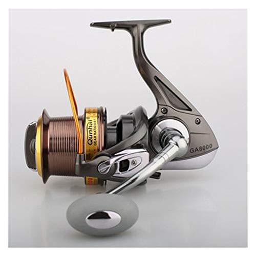 WULE-RYP 4.6: 1 Relación Pesca de Pesca Spinning 11 + 1 BB Carpa Rueda de Pesca Pesca Tackle de Pesca de Carrete de Hilado (Bearing Quantity : 12, Color : Black)