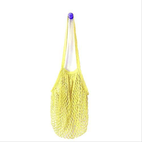 FHFF Mesh Bag 2019 Nieuwe Mesh Net Turtle Bag String Shopping Bag Herbruikbare Fruit Opslag Totes Vrouwen Winkelen China Geel