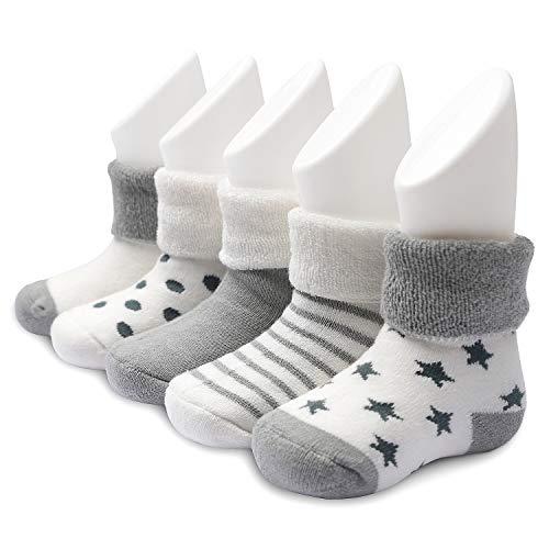 Ateid Baby Socken Frottee Gefüttert 5er-Pack 12-36 Monate L