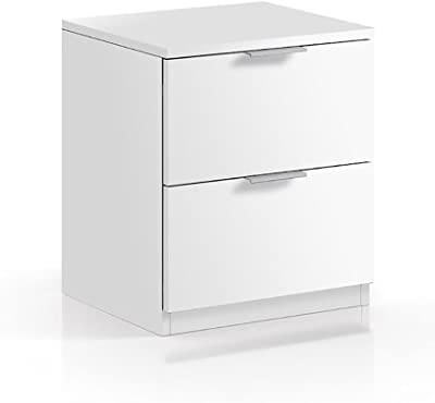 Habitdesign LC7820O - Mesita de Noche Color Blanco Mate, Book ...