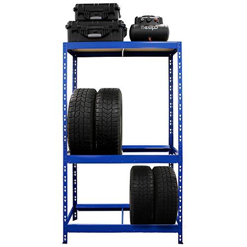 Certeo Reifenregal HxBxT 180 x 100 x 50 cm | Platz für bis zu 10 Reifen | Tiefe 50 cm | Garagenregal