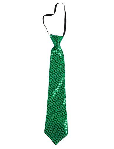 Cravatta in lustrini verde adulto