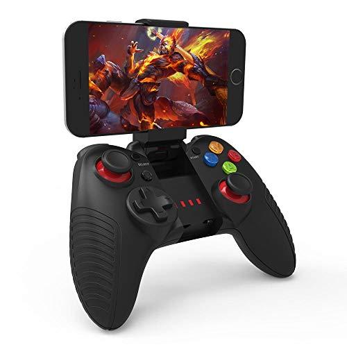 Panjianlin Manette de Jeu Android/iOS/Mac OSX/Win sans Fil Bluetooth à Distance du contrôleur de Jeu Joystick Gamepad Gaming Portable Joystick Poignée (Color : Black, Size : One Size)