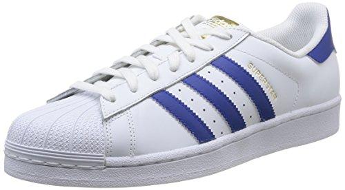adidas Originals Superstar Foundation B27141, Unisex-Erwachsene Low-Top Sneaker, Weiß (Ftwr White/Collegiate Royal/Ftwr White), EU 38 2/3