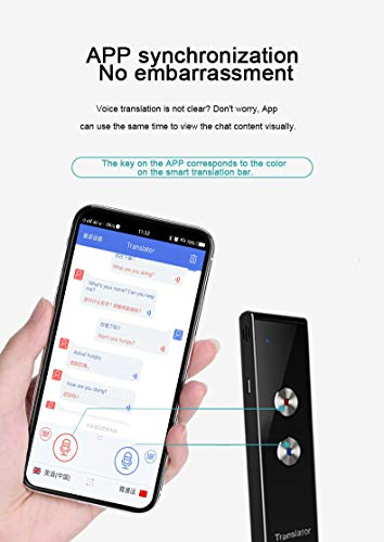 Language Translator Device Smart Two Way Voice Translator Bluetooth Support 44 Languages for Travelling Abroad Learning Shopping Business Chat Recording Translations Photo #5
