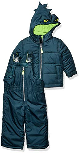 Carter's Baby Boys Heavyweight 2-Piece Skisuit Snowsuit, Green Monster, 18 Months