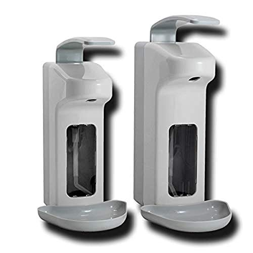 Best Price! ERTYUI Plastic Disinfectant Dispenser 500ml Lever Dispenser with Drip Disinfectant Wall ...