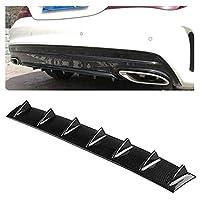 ShiSyan 車の装飾ステッカー 自動車用 バンパーガード/ユニバーサル車のリアバンパーディフューザーリップ7フカヒレスタイルカーボンファイバーABS、サイズ:85.3 X 79.8 X 13.4センチメートル 取付けること容易