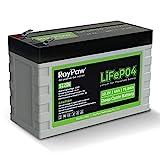 RoyPow Batería LiFePO4 Deep Cycle 6Ah 12V Recargable de Litio fosfato de Hierro Hierro 3000 ciclos FiOS de reemplazo para batería SLA para Autocaravana/campista, Scooter, buscador de Peces