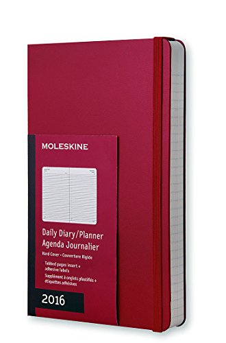 Moleskine 2016 Daily Planner, 12M, Large, Scarlet Red, Hard Cover (5 x 8.25)