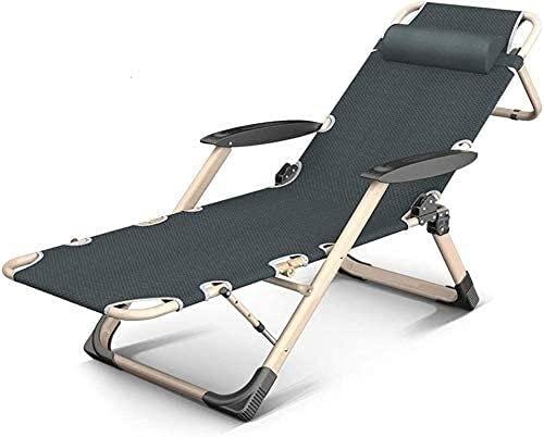 KDRICH Silla de Gravedad Cero reclinable Silla Plegable sillón sillón reclinable Almuerzo Almuerzo Silla Ocio Silla casa Sala de Estar (Color : B)