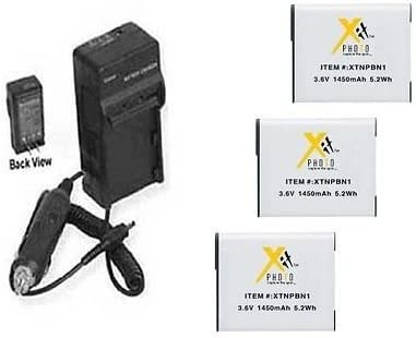 THREE Award 3X NP-BN1 Batteries + WX150 Charger WX100 for Limited time sale Sony