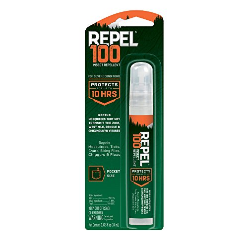 Repel 100 Insect Repellent, Pen-Size Pump Spray, 0.475-Ounce, 6-Pack