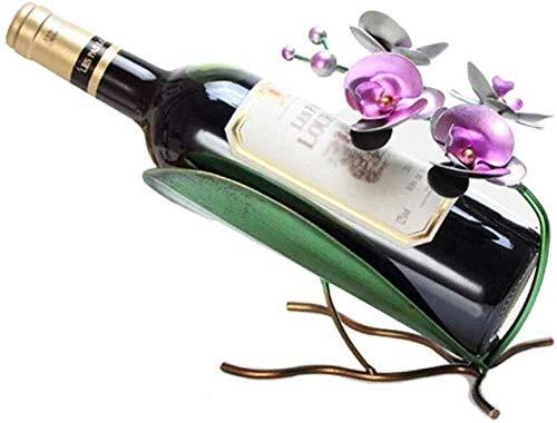 HJXSXHZ366 Estantería de Vino Estante del Vino Estante Botella de Vino, Phalaenopsis botellero, la Personalidad Creativa salón Estante del Vino del Metal Estante de Vino pequeño