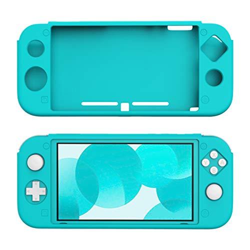 スイッチライト ケース TiMOVO Nintendo Switch Lite 専用カバー 傷つき防止 シリコン製 柔らかい すべり止め 握りやすい 取付簡単 Turquoise