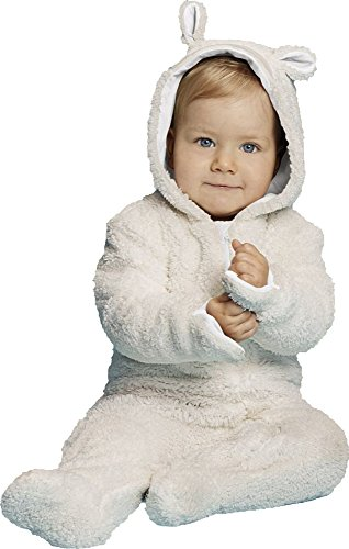 LUPILU® Baby Teddyoverall (Weiß, Gr. 86/92)