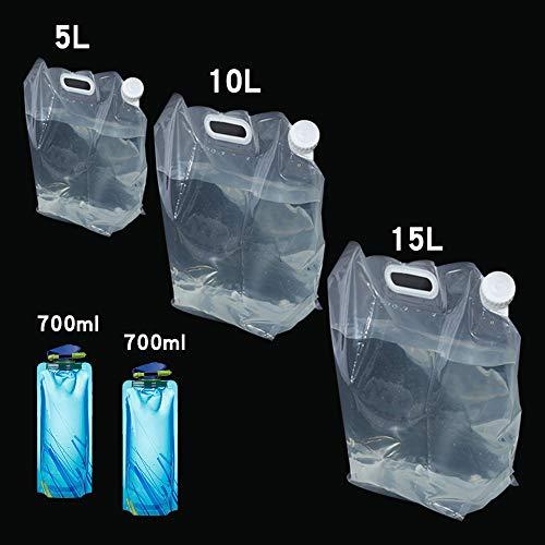 COPSD inklapbare waterkruiken container zak 5 pakketten BPA gratis plastic water opslag vervoerder tank outdoor drinken opslag draagtas voor camping wandelen picknick auto, orkaan overstroming