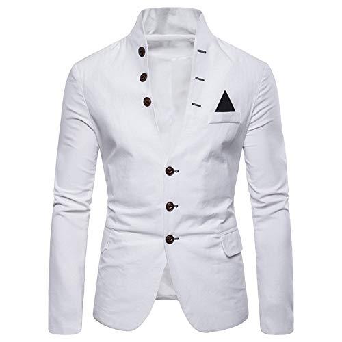 Men's Jacket Blazer Grandad Shawl Collar Casual Suits Blazer Slim Fit...