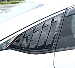 2X Sport Style Carbon Fiber Print Quarter Window Scoops Louvers for Ford Fusion Mondeo 2013-2018