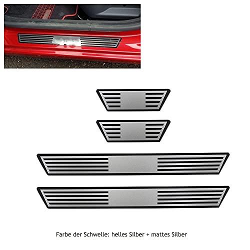 Argentavis Listones de entrada para puerta de coche, compatibles con CLIO IV CLIO 4, de acero inoxidable, protección antiarañazos, bienvenida al pedal adhesivo