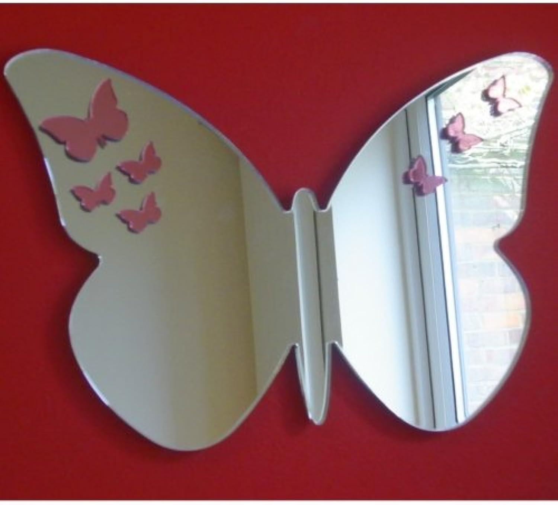 Pink Butterflies on Butterfly Mirrors - 60cm x 40cm