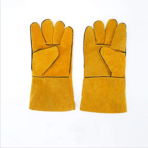 QQDD Gartenhandschuhe, Handschuh-Handschuhe Anti-Bisse Sicherheit pet Anti-Bisse Sicherheit Handschuhe (Color : Orange)