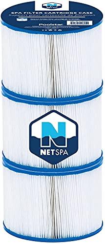 JUNG Netspa Whirlpool aufblasbar , SPA Selbstaufblasend, beheizter Jacuzzi, Outdoor & Indoor (3 Ersatzfilter)