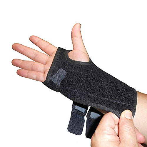 IRUFA,WS-OS-53,New 3D Breathable Patented Fabric RSI Wrist Splint Brace Support, Night support for Carpal Tunnel Syndrome, Sports, Sprains, Arthritis and Tendinitis (Right Hand)