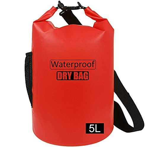 Bolsa impermeable 5L/10L/15L/20L/25L/30L/40L, ligera bolsa seca con correa de hombro ajustable ideal para la deriva/navegación/kayaking/pesca/rafting/natación/camping
