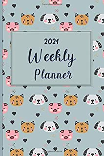2021 Weekly Planner: Weekly Planner with Finance Tracker | Monthly Calendar with U.S./UK/ Canadian/Christian/Jewish/Muslim...