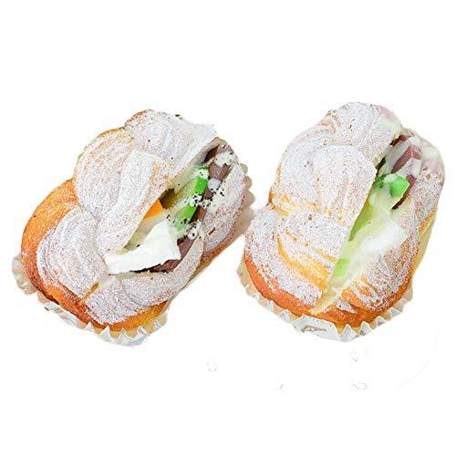 Pigeon Fleet 6 Piezas de Pan Artificial Falsa torsión sándwich de Pan de simulación Alimento del Partido Atrezzo Fotografía Cocina Modelo Decoración Replica Prop