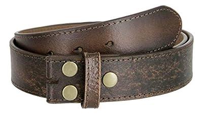 "Classic Vintage Casual Jean Leather Belt Strap (L(37""-39""), Dark Brown)"